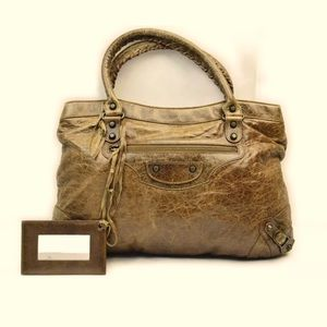 Balenciaga handbag first classic brown leather